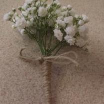 Gypsophilia buttonhole