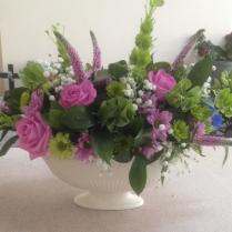 pink and green vase design